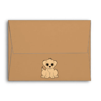 Golden Retriever Puppy Envelope