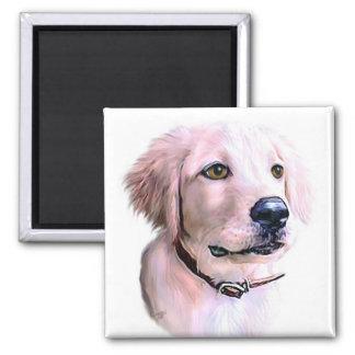 Golden Retriever Puppy Fridge Magnet