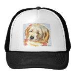 Golden Retriever Puppy Head Trucker Hat