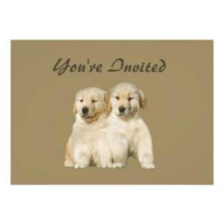 Golden Retriever Puppy Invitation