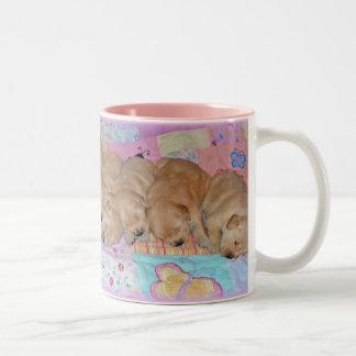 Golden Retriever Puppy Litter Drink Mug