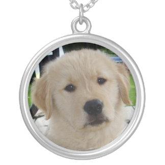 Golden retriever puppy necklace