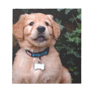 Golden Retriever Puppy Note Pad