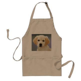 Golden Retriever Puppy Painting Adult Apron