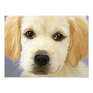Golden Retriever Puppy Painting Card