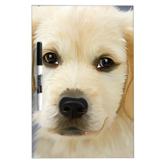 Golden Retriever Puppy Painting Dry-Erase Board
