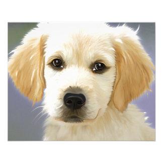 "Golden Retriever Puppy Painting 4.5"" X 5.6"" Flyer"