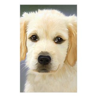 "Golden Retriever Puppy Painting 5.5"" X 8.5"" Flyer"