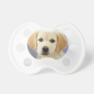 Golden Retriever Puppy Painting Pacifier