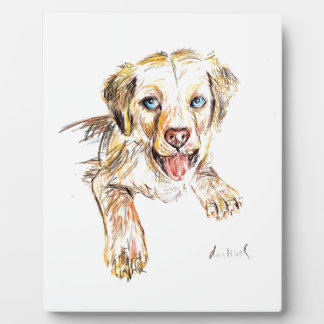 Golden Retriever Puppy Photo Plaque