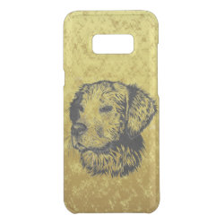 Uncommon Samsung Galaxy S8+ Clearly™ Deflector Case with Golden Retriever Phone Cases design