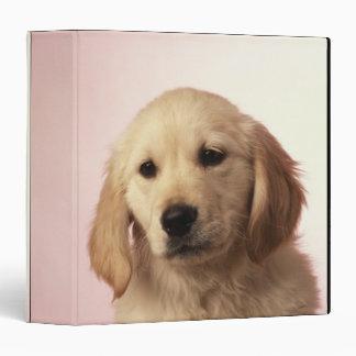 Golden retriever puppy vinyl binder