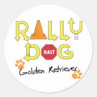 Golden Retriever Rally Dog Classic Round Sticker