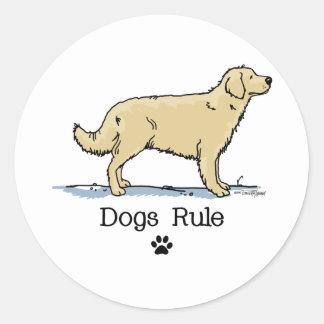 Golden retriever - raza del perro pegatina redonda