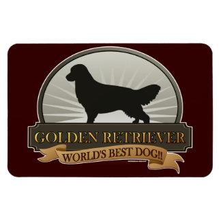 Golden Retriever Rectangular Photo Magnet