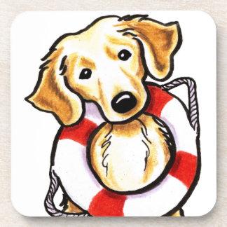 Golden Retriever Rescue Beverage Coaster