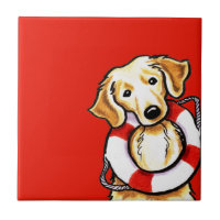 Golden Retriever Rescue Tile