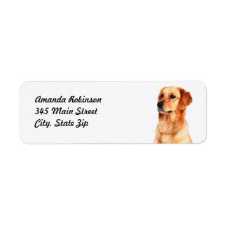 Golden Retriever Return Address Label