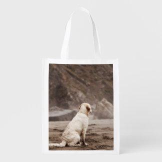 Golden Retriever Reusable Bag Reusable Grocery Bag