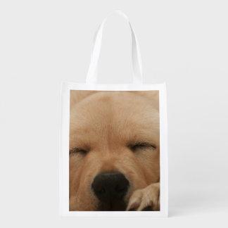 Golden Retriever Reusable Grocery Bag