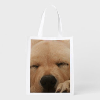 Golden Retriever Reusable Grocery Bags