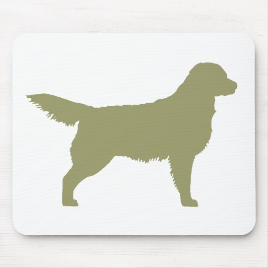 Golden Retriever (sage green) Mouse Pad