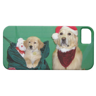 Golden Retriever Santa and Pack Christmas iPhone SE/5/5s Case