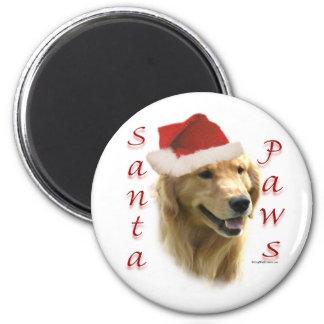 Golden Retriever Santa Paws Magnet