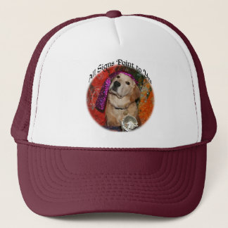 Golden Retriever Signs Point to Yes Fortune Teller Trucker Hat