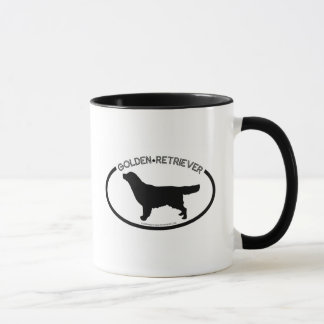 Golden Retriever Silhouette Black Mug