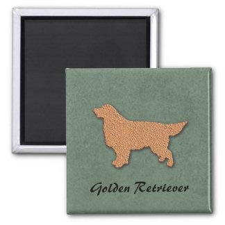 Golden Retriever Silhouette Custom Name Magnet