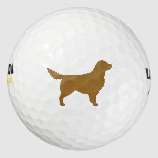 Golden Retriever Silhouette Golf Balls