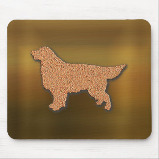 Golden Retriever Silhouette in Brown Tones Mouse Pad