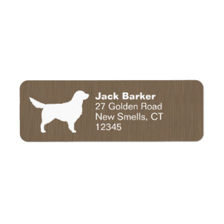 Golden Retriever Silhouette Label