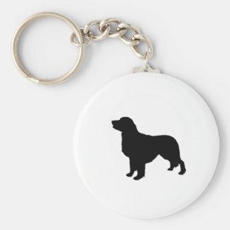 Golden Retriever Silhouette Love Dogs Keychain