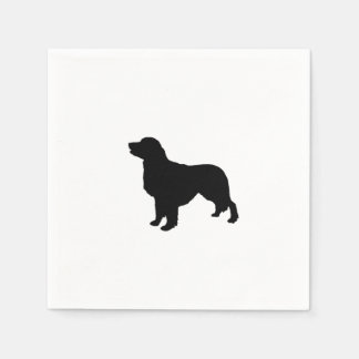 Golden Retriever Silhouette Love Dogs Paper Napkin