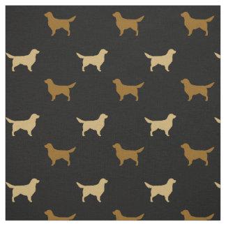Golden Retriever Silhouettes Fabric