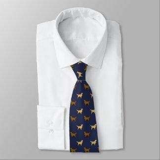 Golden Retriever Silhouettes Pattern Neck Tie