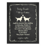 Golden Retriever Silhouettes Wedding Card