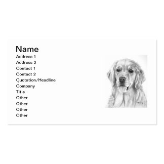 Golden Retriever Sketch Double-Sided Standard Business Cards (Pack Of 100)