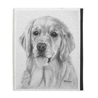 Golden Retriever Sketch iPad Folio Covers