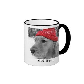 Golden Retriever Ski Dog Mug