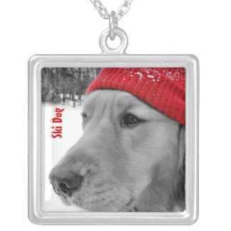 Golden Retriever Ski Dog Necklace