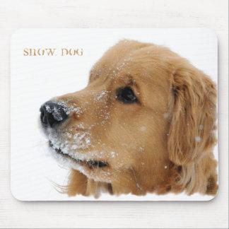 Golden Retriever Snow Dog Mousepad