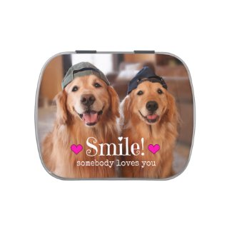 Golden Retriever Somebody Loves You Candy Tins