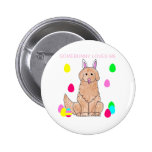 Golden Retriever Somebunny Loves Me 2 Inch Round Button