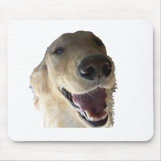 Golden retriever sonriente Mousepad Tapetes De Ratones