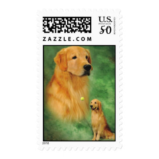Golden Retriever Spencer Postage Stamp