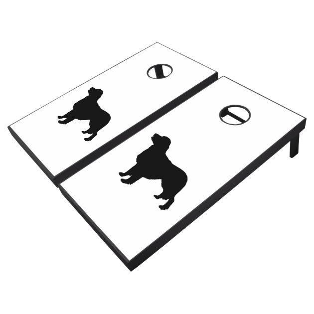 golden retriever sporting hunting dog silhouette cornhole