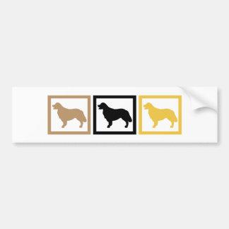Golden Retriever Squares Bumper Sticker